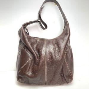 COLE HAAN Brown Genuine Leather Hobo Bag Purse